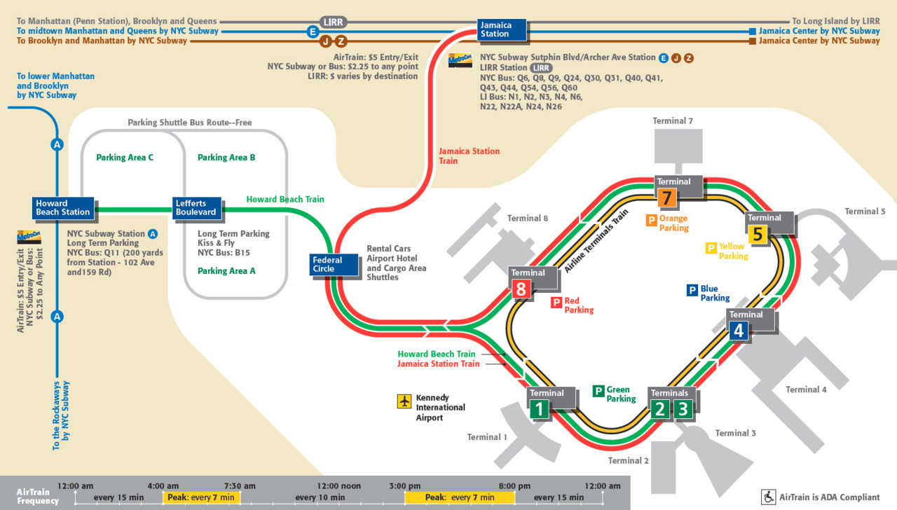 Jfk Airtrain Map Getting to NYC from LAX   A Red Eye Review   Designing Life Jfk Airtrain Map