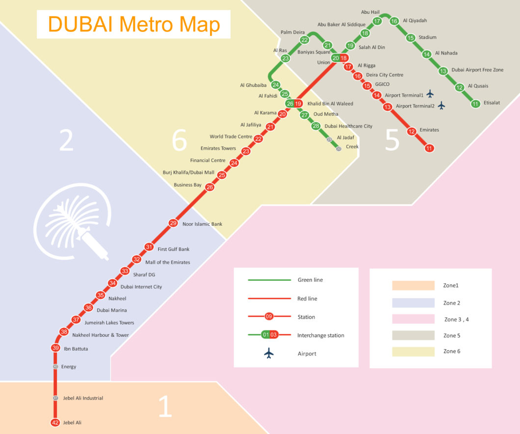 How to get from Dubai Airport into the City - Designing Life Dxb Airport Map on